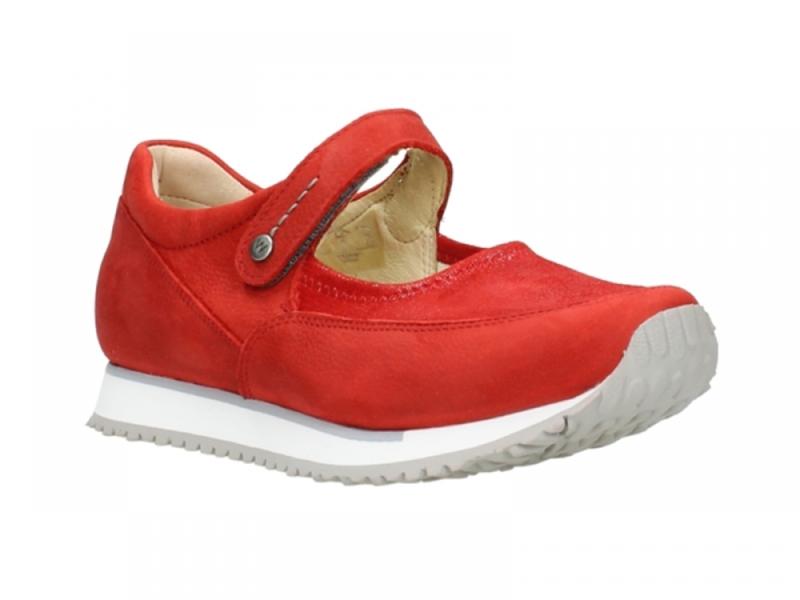 Wolky Bandschoenen 05805 e-step - 11500 rood stretch nubuck