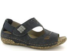 Rieker comfort dames sandalen Blauw