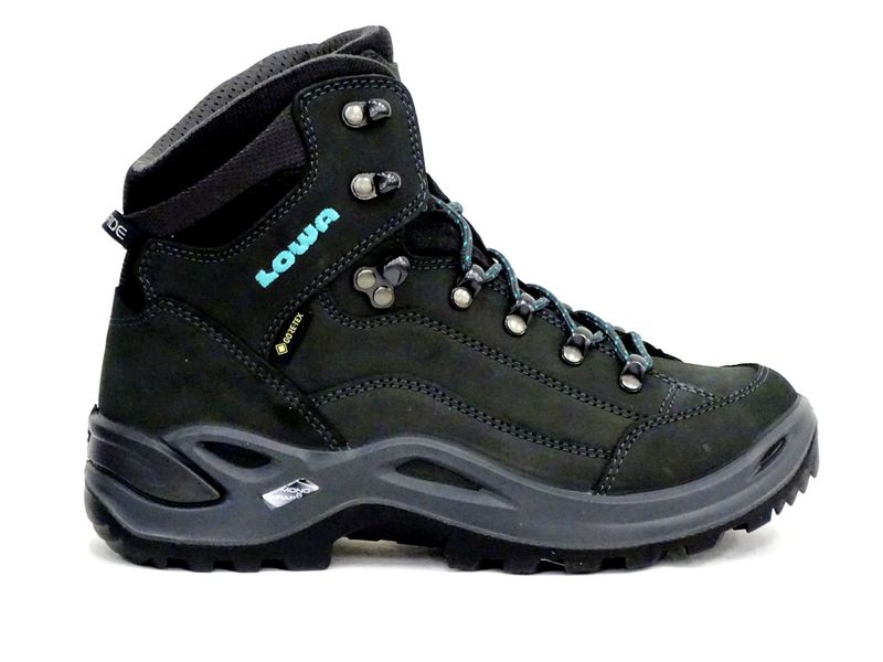 Lowa Renegade GTX Mid Ws Wide asphalt/turquoise