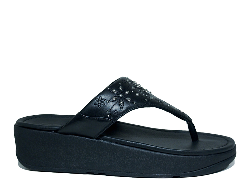FitFlopTM Myla Floral Stud Toe Thongs